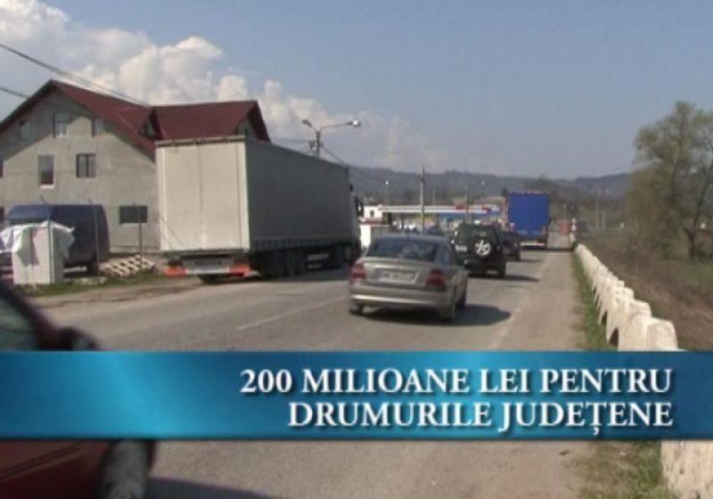 200 milioane lei pentru Drumurile Judeţene