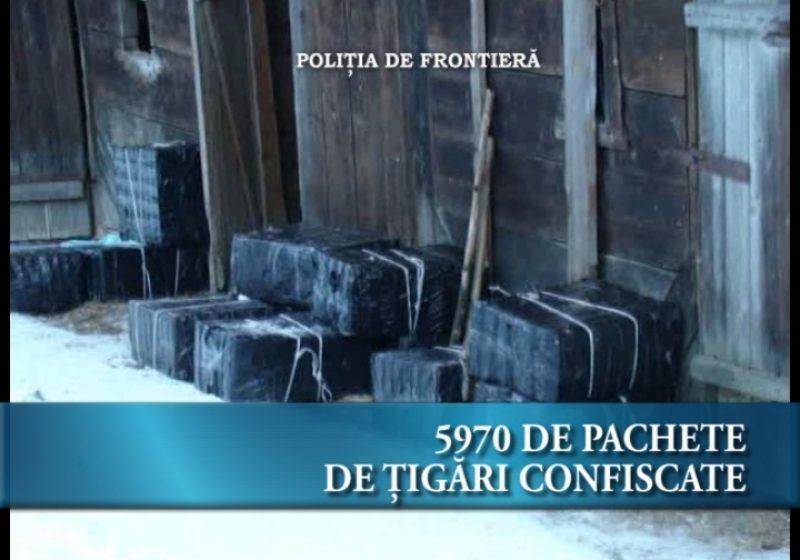 5970 de pachete de ţigări confiscate