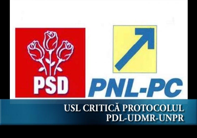 Critică protocolul PDL-UDMR-UNPR