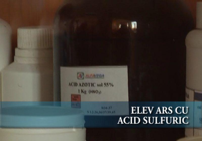 Elev ars cu Acid Sulfuric