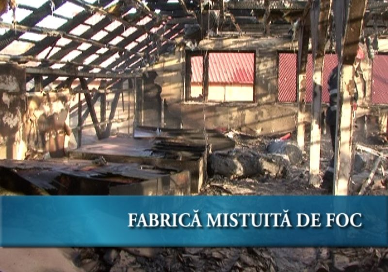Fabrică mistuită de flăcări