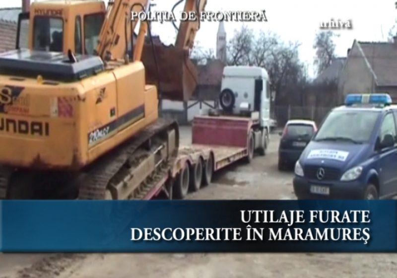 Utilaje furate descoperite în Maramureș