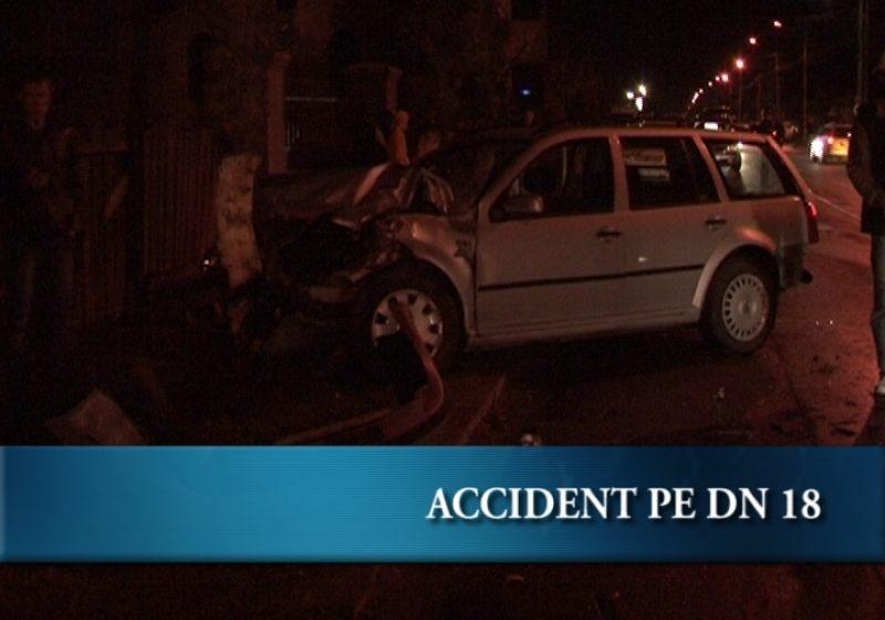 Accident rutier pe DN 18