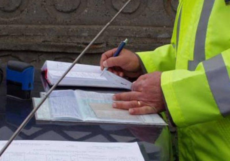 Amenzi de peste 6 800 lei au fost acordate pe drumurile publice din judeţ