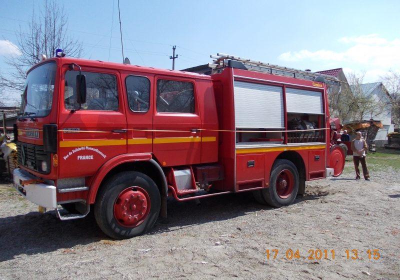 Autospecială de pompieri la Câmpulung la Tisa