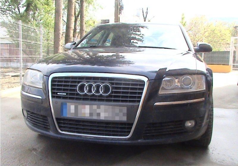 Autoturism de lux, suspect a fi furat din străinătate a fost descoperit la Vişeu de Sus