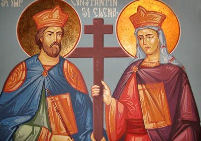 Biserica Ortodoxă ii prăznuieşte maine, 21 mai,  pe Sfinţii Împăraţi Constantin şi Elena.