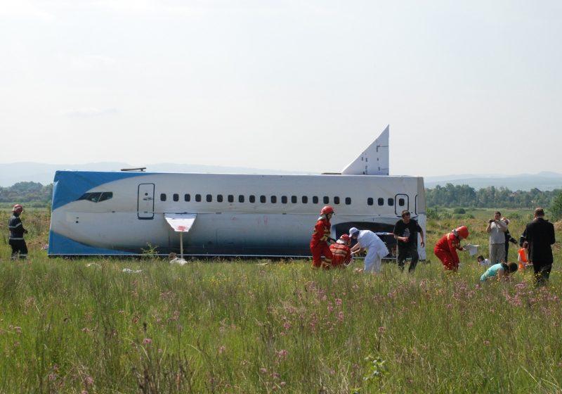 Exerciţiul de simulare a accidentului aviatic a fost util pentru toţi participanţii