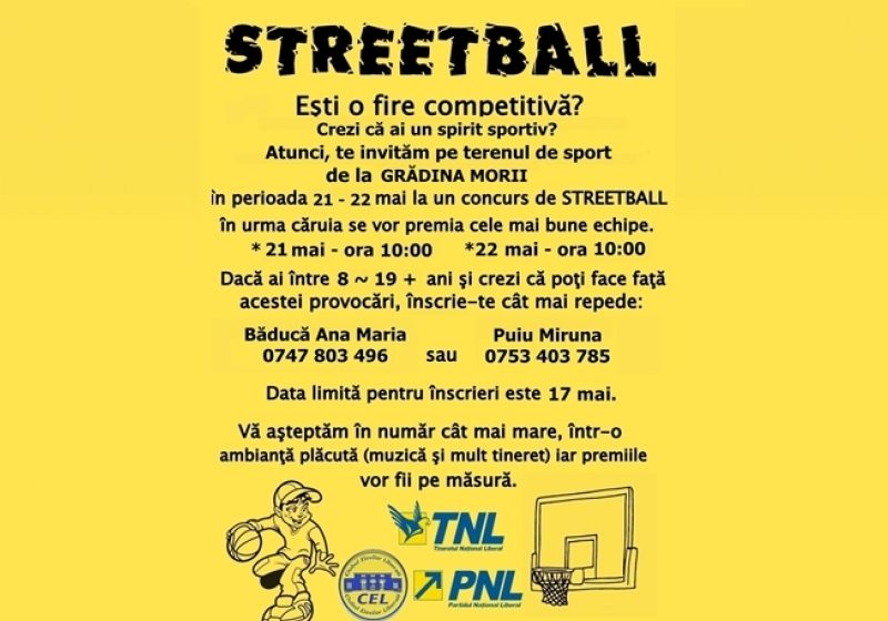 Concurs de streetball şi un nou teren de baschet…la Grădina Morii