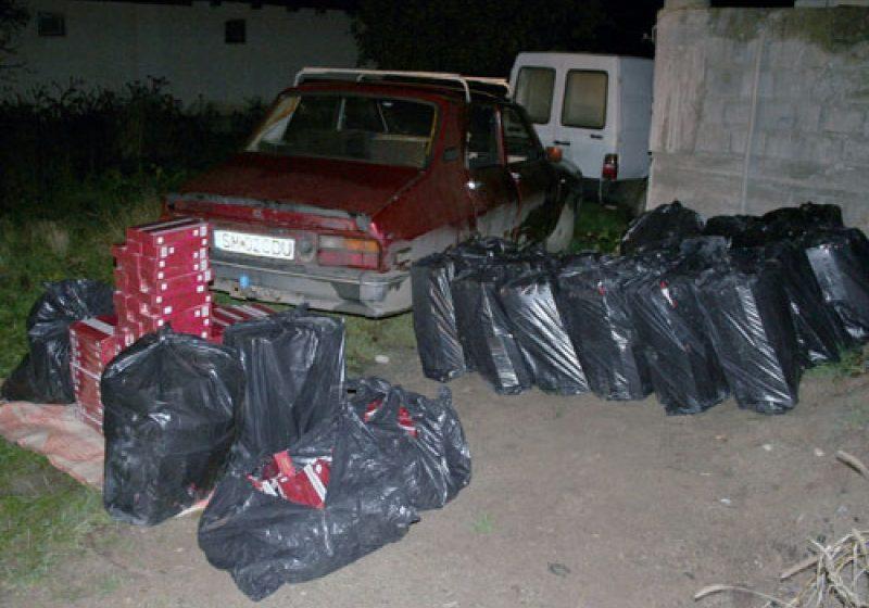 15.000 pachete de ţigări de contrabandă descoperite la Halmeu