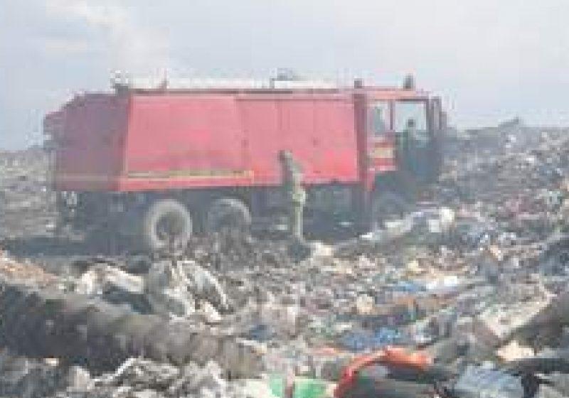 Incendiu la rampa de gunoi a municipiului Sighet