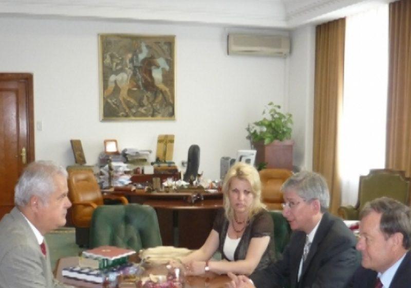 Euhen Ciolyi, Presedintele Congresului Mondial al Ucrainenilor  a efectuat o vizita de lucru în România