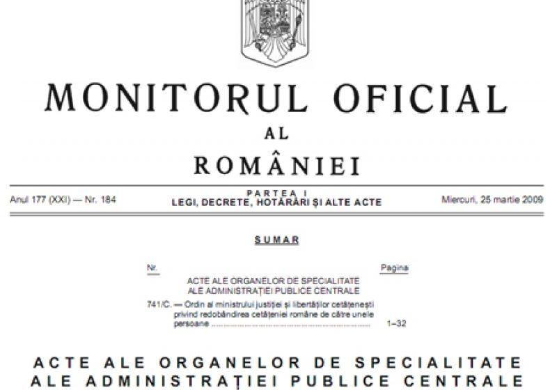 Baia Mare: Hotararea de Guvern pentru alegerile partiale de deputat a fost publicata in Monitorul Oficial
