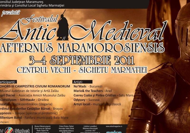 """Programul """"Festivalului antic şi medieval"""" de la Sighetul Marmaţiei"""