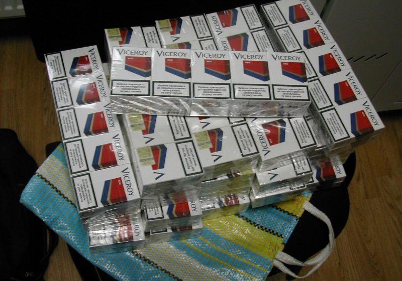 400 pachete de ţigări confiscate de poliţiştii maramureşeni