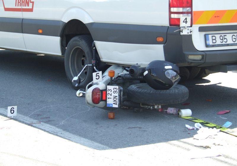 Motociclist izbit în plin de un autoturism în centrul Sighetului