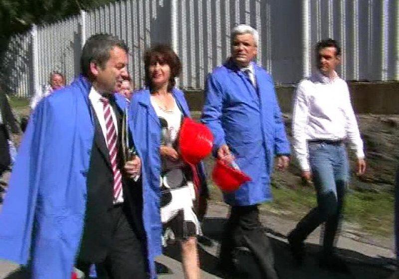 Baia Mare: Ministrul Economiei şi cel al Finanţelor au vizitat astăzi uzina Romplumb