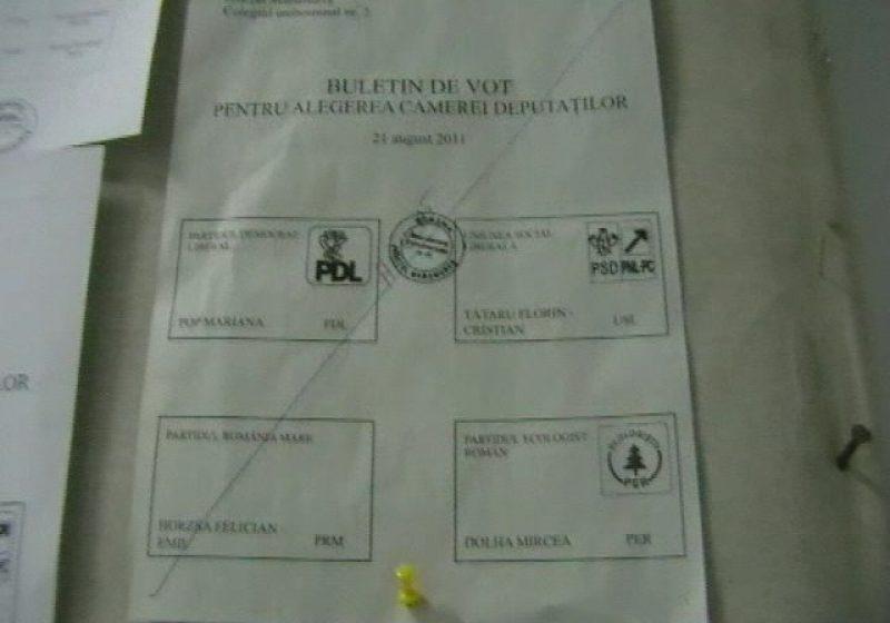 Baia Mare: Doar 28,46% dintre alegătorii maramureşeni înscrişi în listele de votare s-au prezentat azi la vot