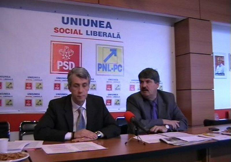 Baia Mare: Parlamentarii maramureşeni USL Liviu Titus Paşca şi Florin Tătaru comentează revocarea din funcţie a lui Mircea Geoană