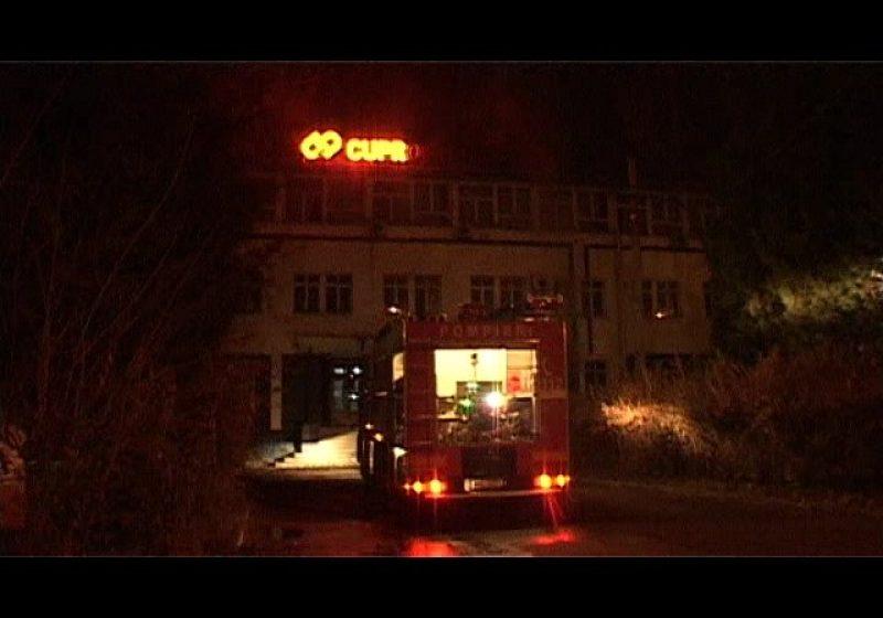 Baia Mare: Incendiu în clădirea de birouri a fostului combinat metalurgic Cuprom