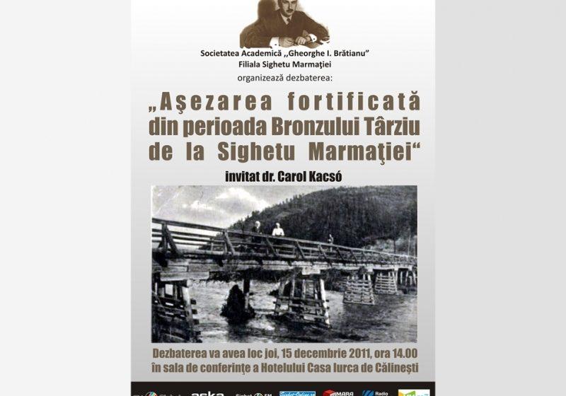 """Sighet: Dezbaterea """"Așezarea fortificată din perioada Bronzului Târziu de la Sighetu Marmației"""""""