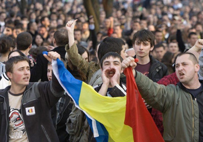 Manifestaţie fără ciocniri violente în Capitală, în a patra zi de proteste