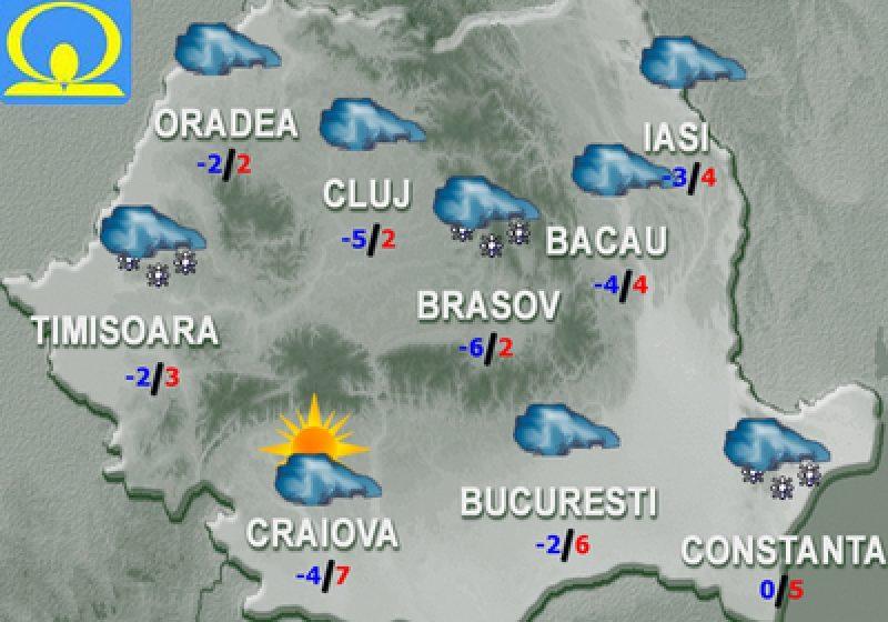 Cum va fi vremea în următoarele două zile