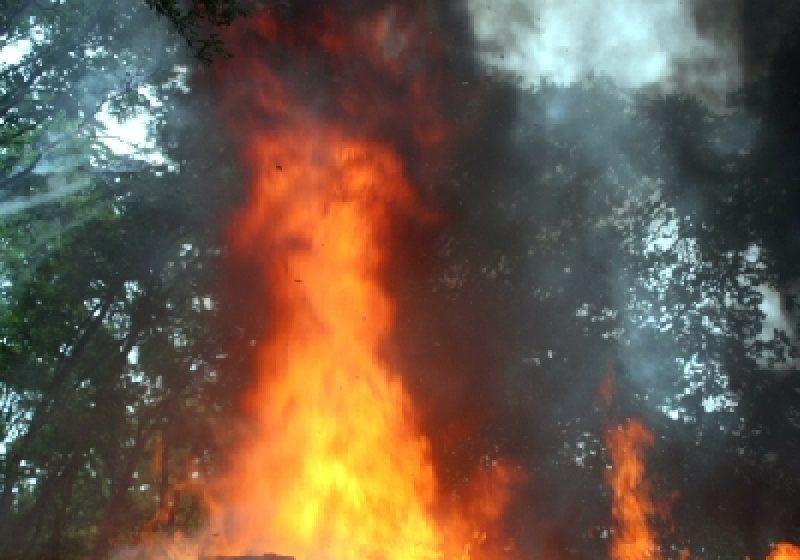 Baia Sprie: Incendiu la un coş de fum