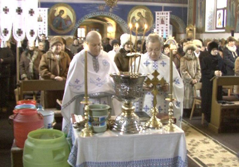 Sighet: Botezul Domnului sărbătorit de Biserica Ortodoxă Ucraineană din Sighet