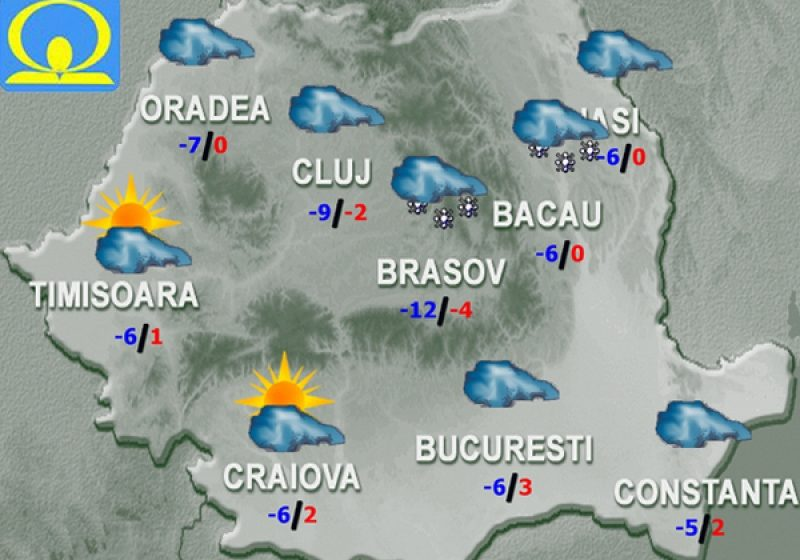 Frig şi înnorat în cea mai mare parte a ţării – Ce temperaturi vor fi în următoarele zile