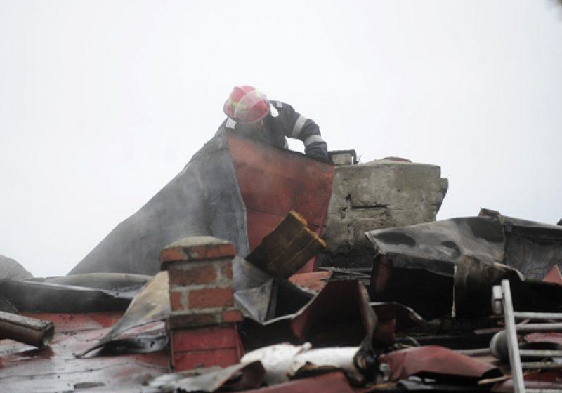 SIGHET: Incendiu pe strada Plevnei