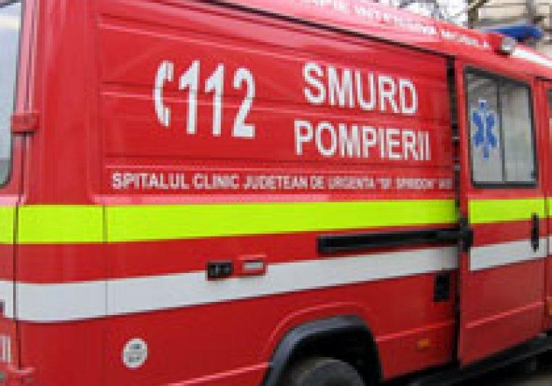 Pacient din Strâmtura, cu arsuri grave, trimis la Târgu Mureş