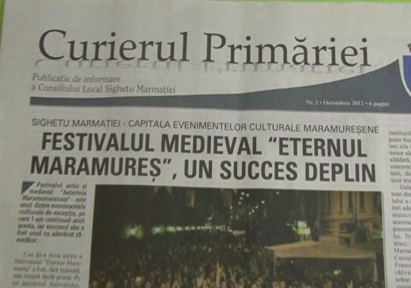 """SIGHET: A apărut numărul doi al publicaţiei """"Curierul Primăriei"""""""