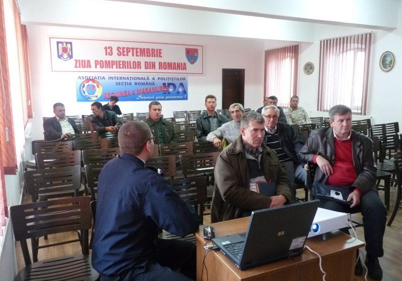 SIGHET: Şefii Serviciilor Voluntare pentru Situaţii de Urgenţă au fost instruiţi