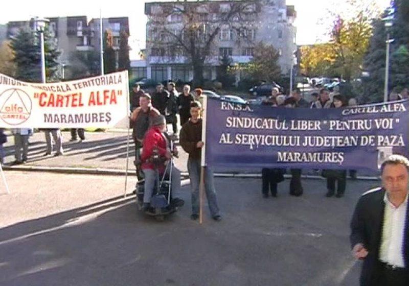 Baia Mare: Protest împotriva măsurilor de austeritate, pentru locuri de muncă şi dialog social