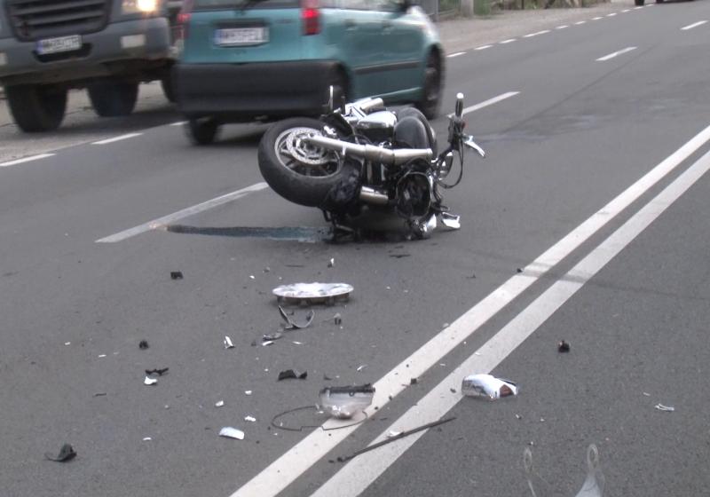 112: Motociclist rănit la Vişeu de Sus