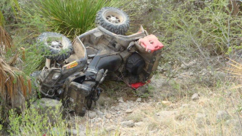 Minor accidentat după ce a condus un ATV – a pierdut controlul direcției și a sărit într-un pârâu