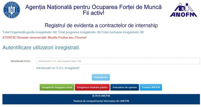 PIAȚA MUNCII: Cum e cu Registrul electronic de evidenţă a contractelor de internship