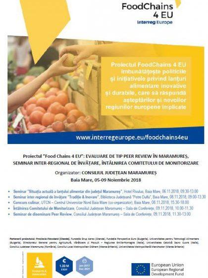 """EVALUARE: Experții internaționali ai Proiectului """"Food Chains 4 EU"""", în vizită de lucru în Maramureș"""