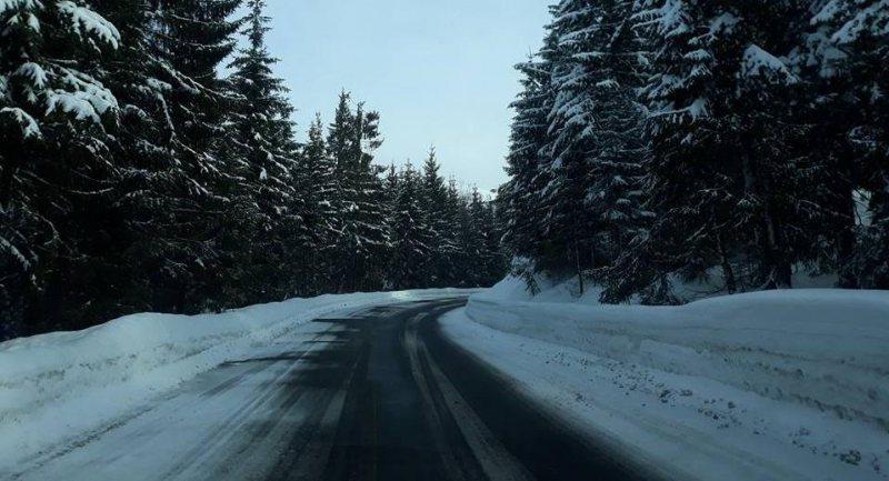 TOAMNĂ CU DINȚI: A nins în Pasul Prislop