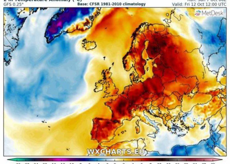 METEO: Vremea se schimbă în toată Europa. Un val neobișnuit de căldură aduce temperaturi anormal de mari, inclusiv în Oceanul Arctic