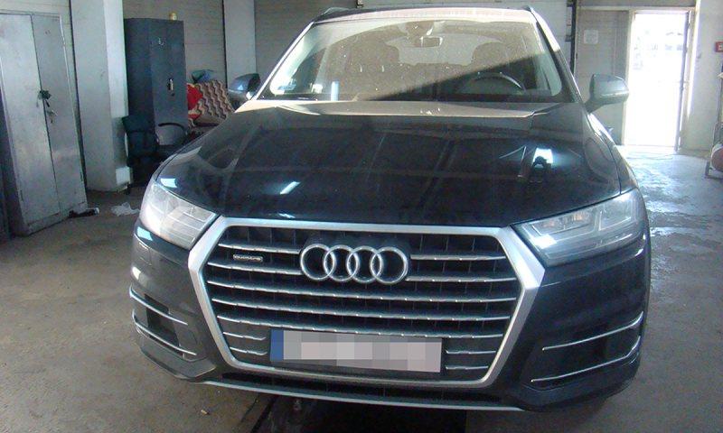 CAPTURĂ: Autoturism Audi Q7căutat de autoritățile din Polonia descoperit la graniţă în România