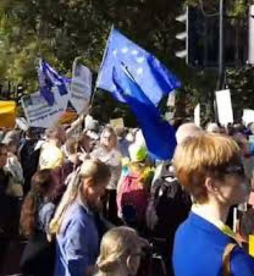 VIDEO MITING: Peste 500.000 de britanici anti-Brexit au manifestat la Londra pentru a cere un nou referendum