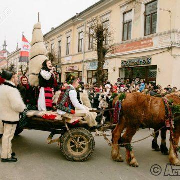 """Jandarmii, de strajă """"Festivalului Datinilor şi Obiceiurilor de Iarnă – Marmaţia"""""""