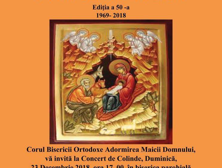 Concert de colinde al Corului Bisericii Ortodoxe Adormirea Maicii Domnului