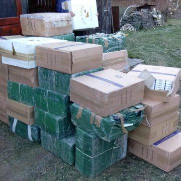 IPJ: 28.000 pachete cu țigări de contrabandă, confiscate