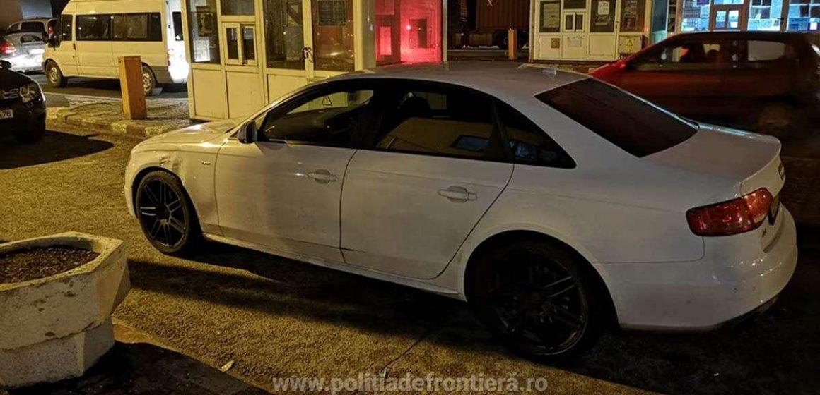 Mașină furată din Marea Britanie recuperată de polițiștii de frontieră