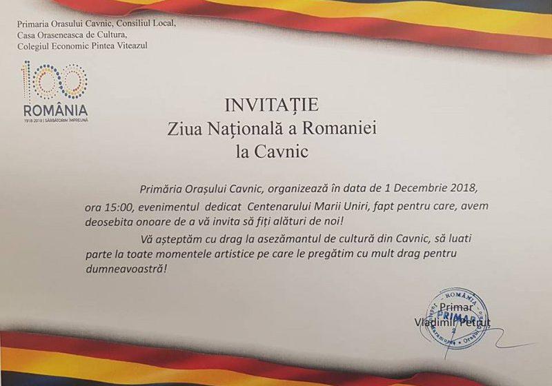 PROGRAM: Scena Marii Uniri va fi refăcută la Cavnic, de 1 Decembrie