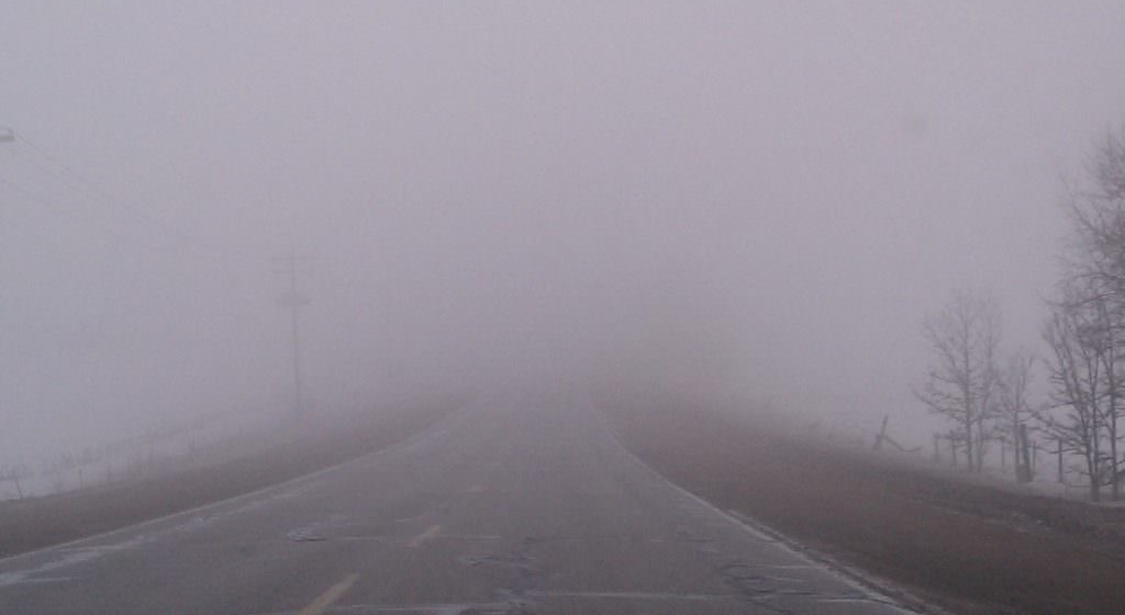 VIDEO | Vizibilitate redusa de ceata, sub 50 de metri pe Dealul Hera și Dealul Stefanitei, respectiv sub 150 de metri in Pasul Prislop