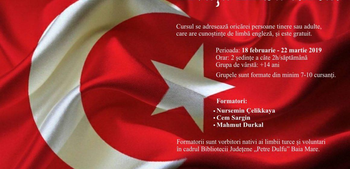 """Curs de limba turcă la Biblioteca Judeţeană """"Petre Dulfu"""" Baia Mare"""